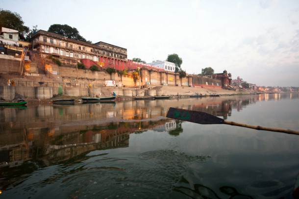 Dawn on the Ganges river by navid j