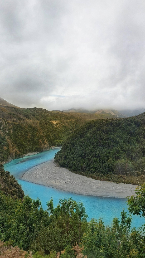 Glacial river in the Western New Zealand Alps