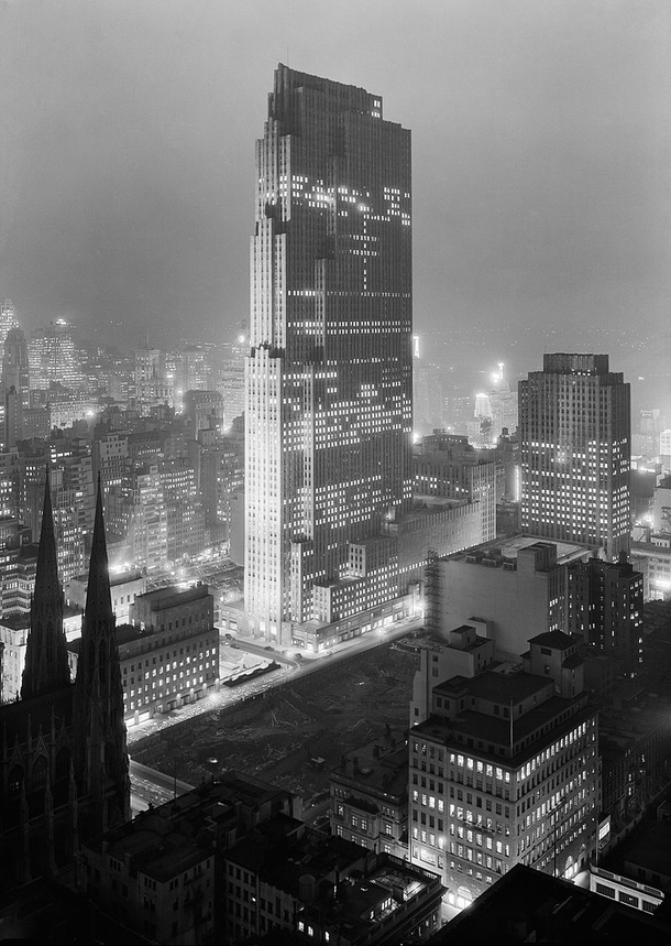 Rockefeller Center NYC  - before it was surrounded by tall buildings