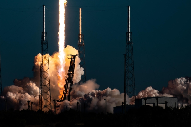 SpaceX Falcon  Block  GPS III- lifts off from Cape Canaverals SLC album in comments