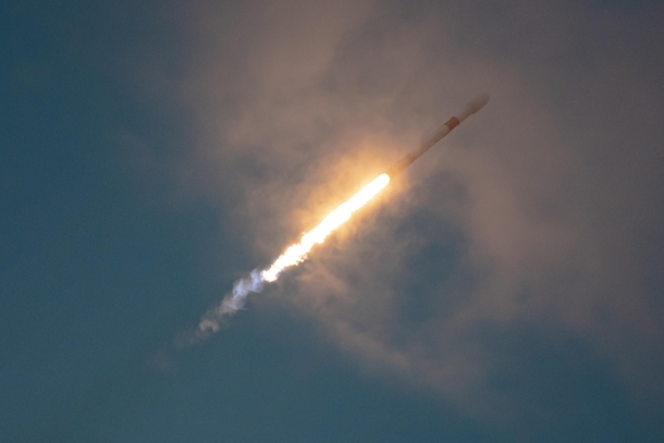Todays SpaceX launch of Falcon  carrying AMOS-