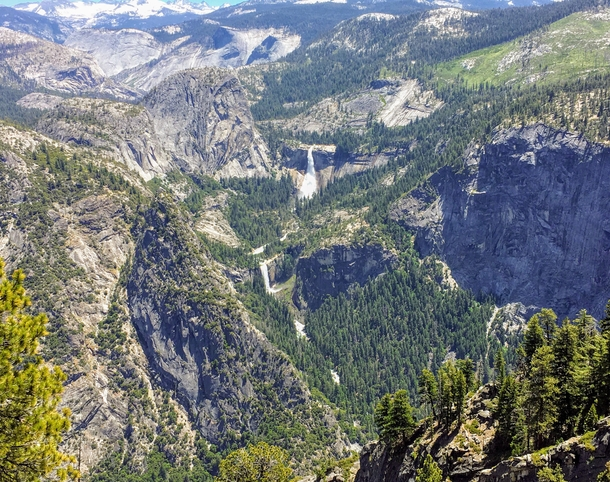 x View of Vernal Falls from Glacier Point