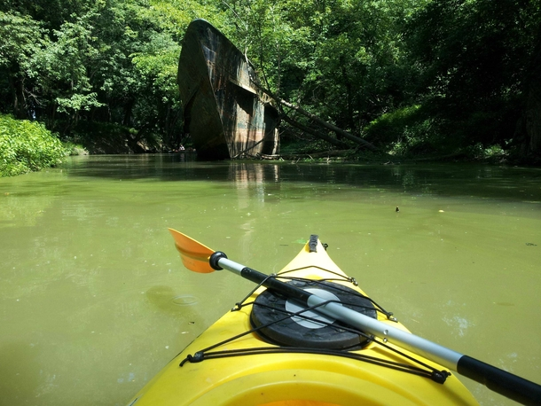 Year Old Ghost Ship - Ohio River Tributary - Set in Comments