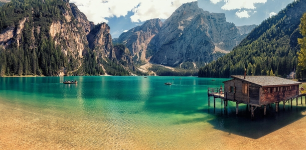 A beautiful summer by the lake in the Italian Dolomites  photo by Giorgio Galano