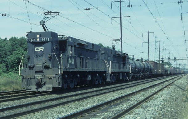 A Conrail freight train passes through Lawrence NJ on August   xpost rhistoryporn