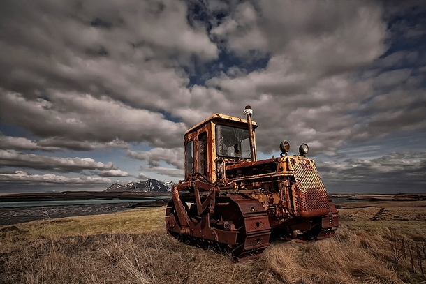 A dozer that has seen better days abandoned in Iceland  by orsteinn H Ingibergsson