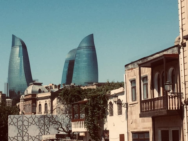 A few months ago another Reddit user posted a picture of Baku Azerbaijan and I was so mesmerized that I ended up going myself One of the best trips of my life Here is a pic I took of the flame towers from the old city