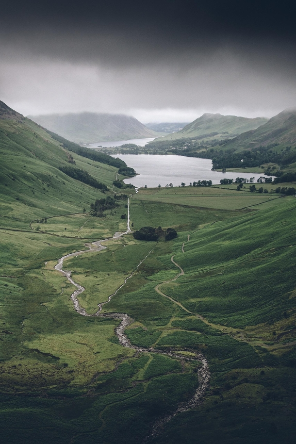 A moody morning in the Lake District UK