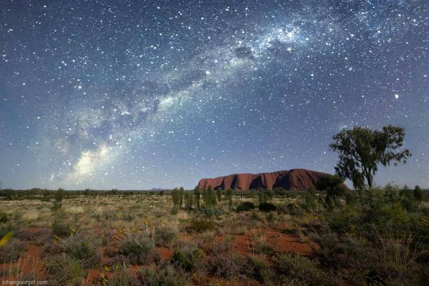 A pebble among the stars Uluru Ayers Rock Northern Territory Australia