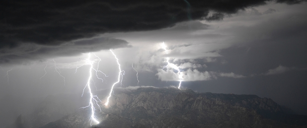 A photo taken by my co-worker during a recent storm over the Sandia mountains Albuquerque New Mexico