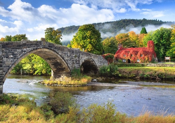 A quaint tea-room originally built in  in the village of Llanrwst Wales