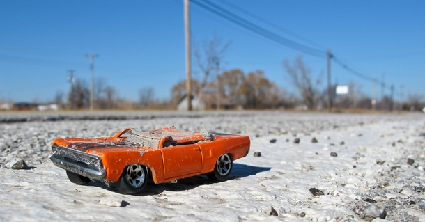 A Smashed Amp Forgotten Toy Car In The Ghost Town Of
