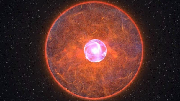 A Thorneytkow object is a conjectured type of star wherein a red giant or supergiant contains a neutron star at its core formed from the collision of the giant with the neutron star