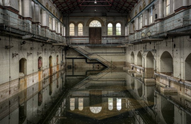 Abandoned Abbey Mills Pumping Station Stratford England