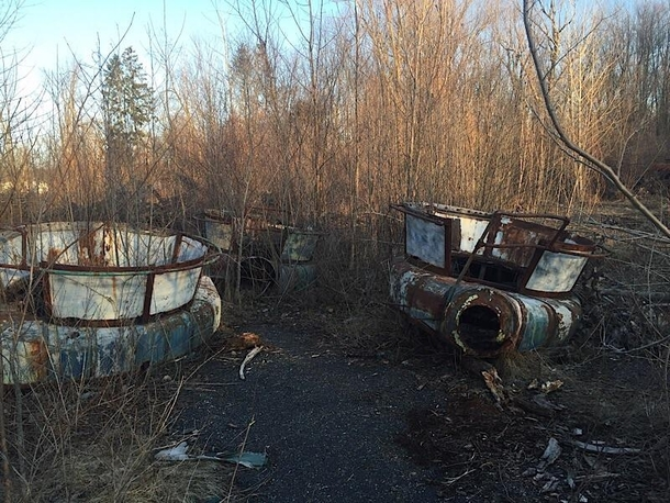 Abandoned amusement park rides in Chippewa Lake Ohio
