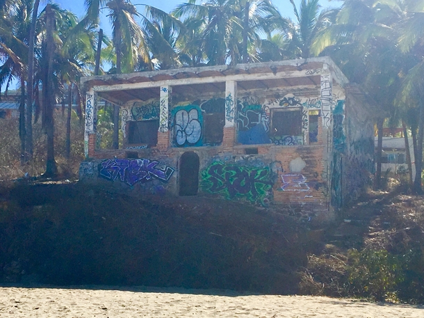 Abandoned beachfront property Sayulita Mexico