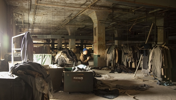 Abandoned clothing factory still filled with clothing in Maryland