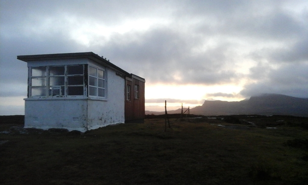 Abandoned coastguard watch station Skye Scotland Used occasionally as a mountain shelter