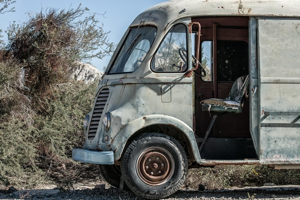 Abandoned Delivery Truck Route  New Mexico