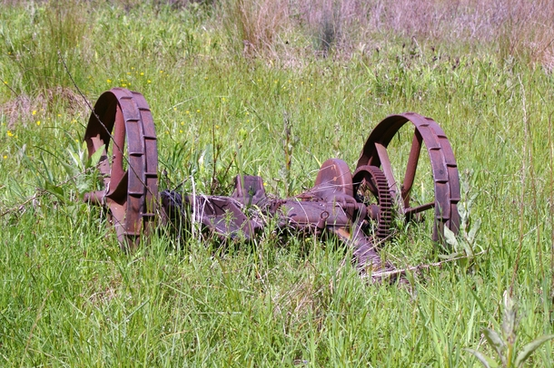 Abandoned farming equipment in the Oregon boonies