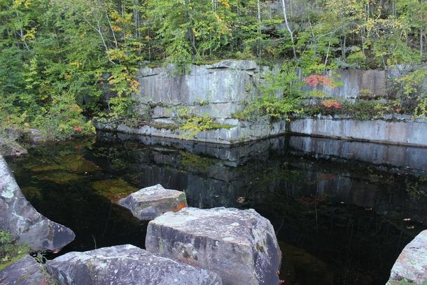 Stone Quarry Ireland Abandoned Flooded Stone Quarry