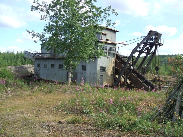 Abandoned Gold Dredge in the Alaskan Klondike  Album and more information in the comments