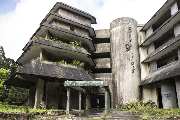 Abandoned Hotel near the top of a caldera on So Miguel