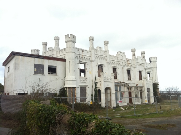 Abandoned hotel on Anglesey Wales