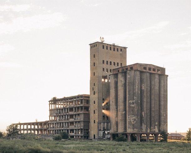 Abandoned huge flour factory in Tuva Russia Photo by Nanna Heitmann
