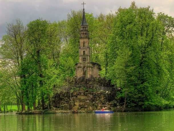 Abandoned island church in Germany
