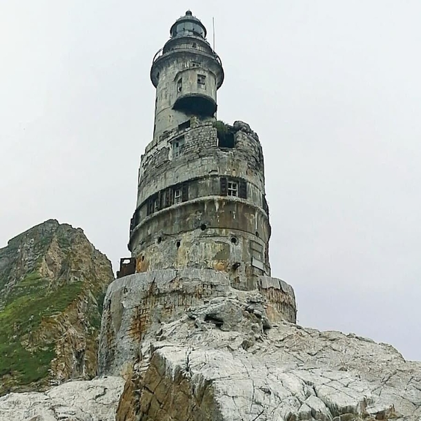 Abandoned Lighthouse Aniva in SakhalinRussia