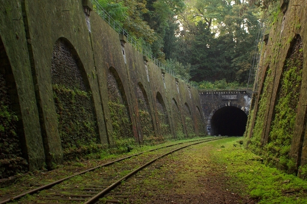 Abandoned railway in Paris France