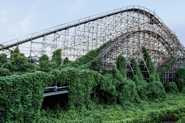 Abandoned roller coaster at Nara Dreamland Japans version of Disneyland