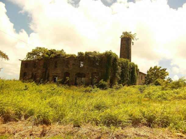 Abandoned Rum Distillery in Barbados
