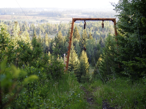 Abandoned Ski Lift in  Mile House British Columbia