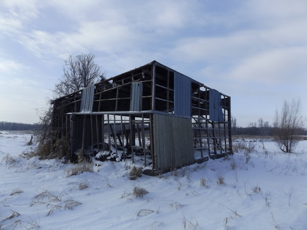 Abandoned storage shed outside Barrie Ontario Canada