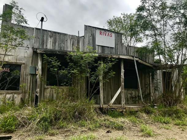 Abandoned store near the border of Mexico in Los Ebanos TX