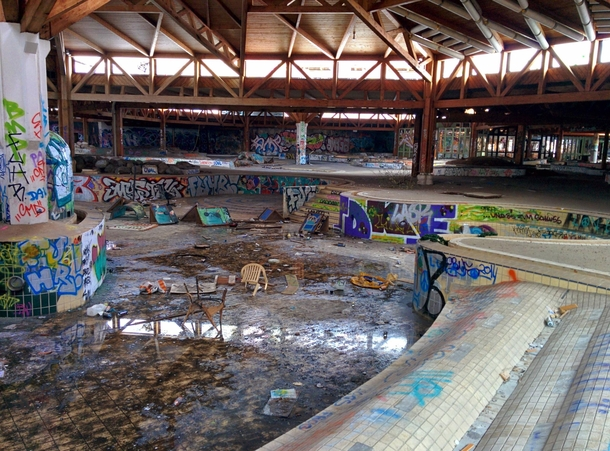 Abandoned swimming paradise  in Berlin Germany