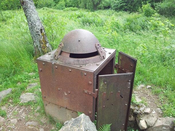 Abandoned thing from the first world war in France