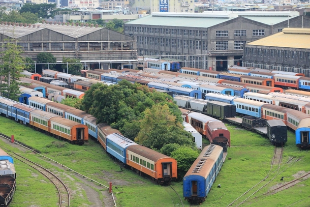 Abandoned train carriages in Kaohsiung Taiwan