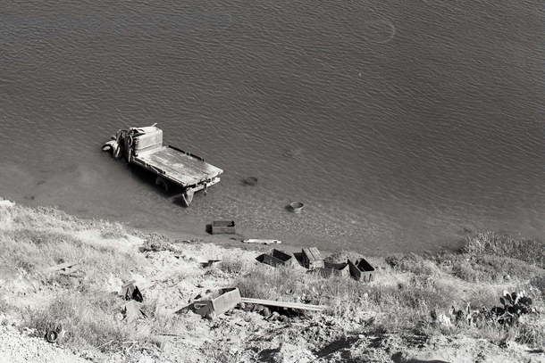 Abandoned truck in Upper Newport Bay Newport Beach California photo by photo Hugh R McMillan c