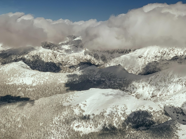 Aerial view of Continental Divide near headwaters of Colorado River