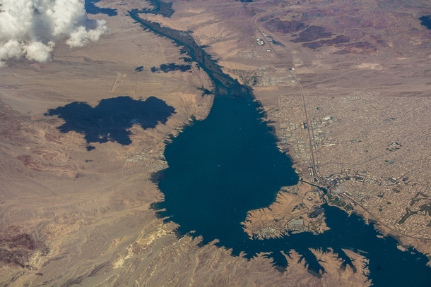 Havasu Spring Break >> Aerial view of Lake Havasu City Arizona - Photorator