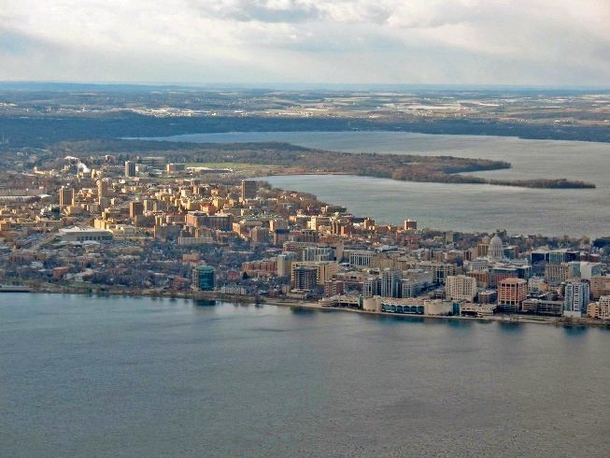 Epic Madison Wi >> Aerial View of Madison WI x - Photorator