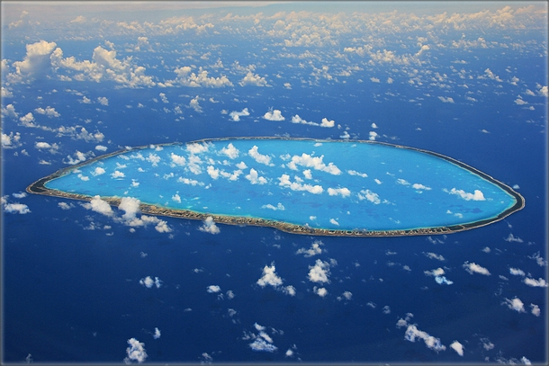 Aerial view of Tikehau Atoll part of the Tuamotu Archipelago French Polynesia  Antje Musel