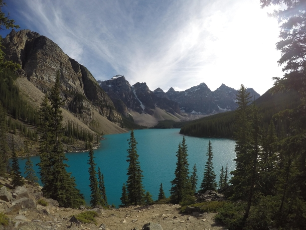 After  countries  planes amp  months this was my last day travelling - Lake Moraine Alberta Canada