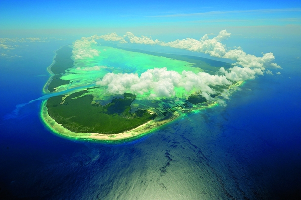 Aldabra the worlds second largest coral atoll Seychelles Indian Ocean -