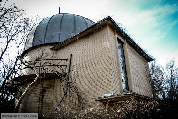 An abandoned observatory in rural Michigan
