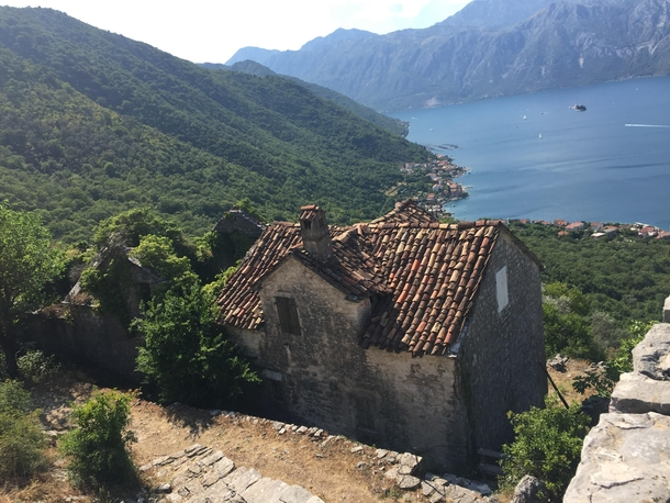 An abandoned village in Montenegro Kotor bay