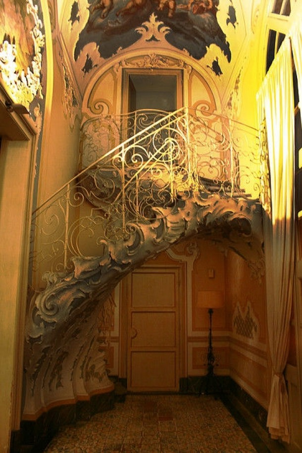An ornate staircase found at the Palazzo Biscari Sicily Italy  - Couldnt find better resolution